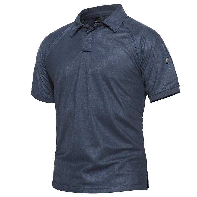 Men's Breathable Tactical Short Sleeve Polo