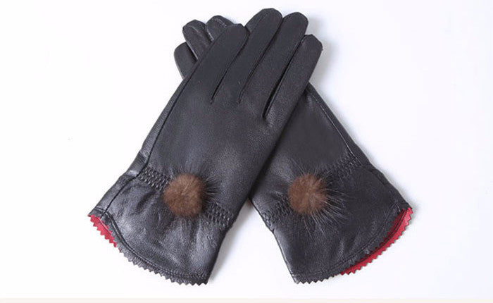 Female Casual Genuine Leather Gloves - Zorket
