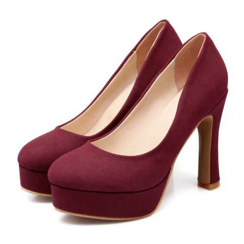 Pumps – Female Summer Closed Toe Solid Color Platform Pumps | Zorket