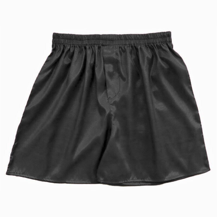 Men's Soft Satin Solid Boxers