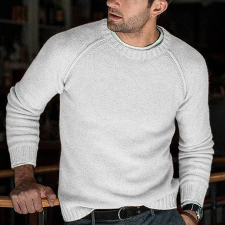 Men's Autumn/Winter Casual O-Neck Warm Solid Sweater