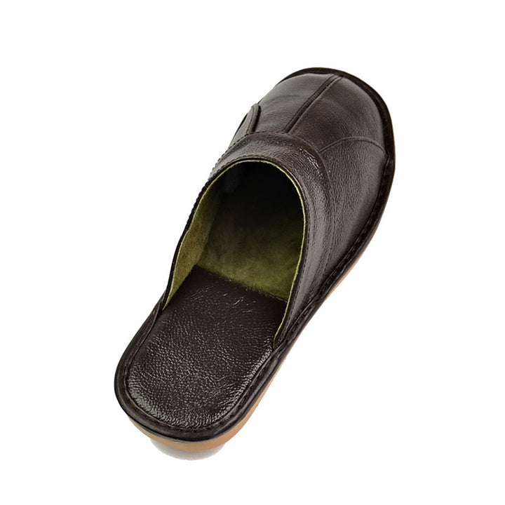 Men's Spring Soft Genuine Cow Leather Slippers