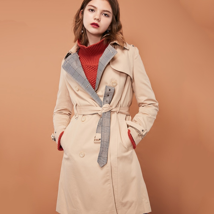 Women's Casual Double Breasted Coat