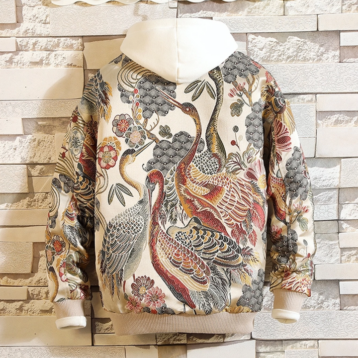 Men's Casual Embroidered Jacket