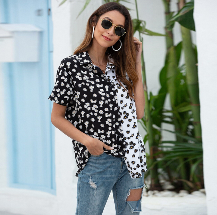 Women's Summer Casual Short Sleeve Blouse