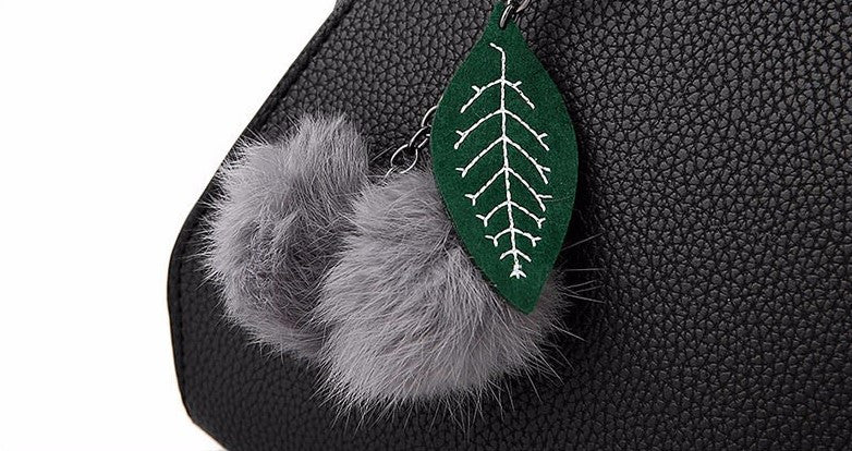Women's Fur Decoration High Quality Tote Bag - Zorket
