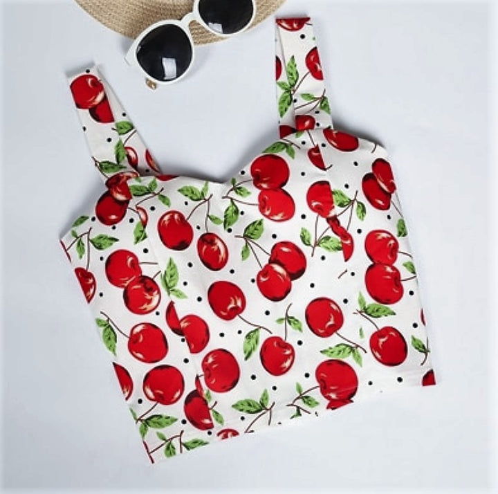 Women's Summer Crop Top With Floral Pattern