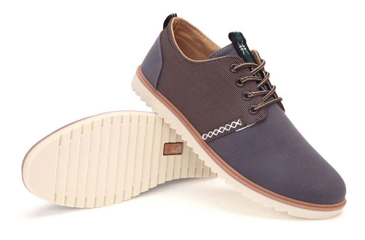 Flats – Canvas Lace Up Spring & Autumn Men's Flat Shoes | Zorket