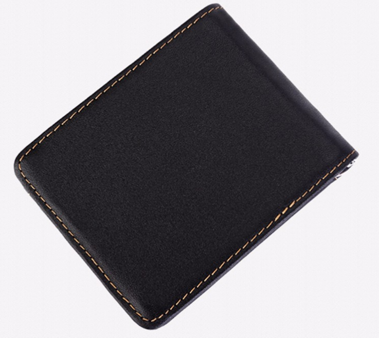 Solid Genuine Leather Men's Money Clip Wallet - Zorket