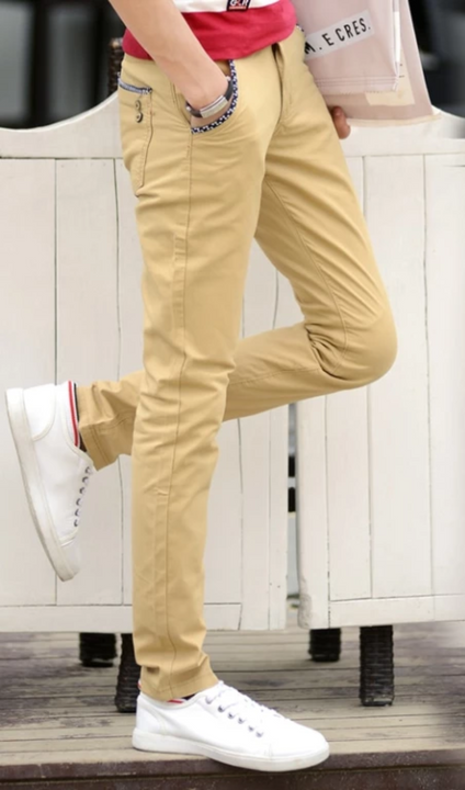 Men's Spring Casual Elastic Slim Pants