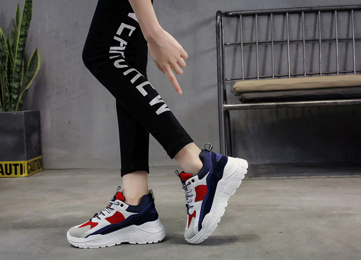 Women's Breathable Comfortable Casual Platform Sneakers