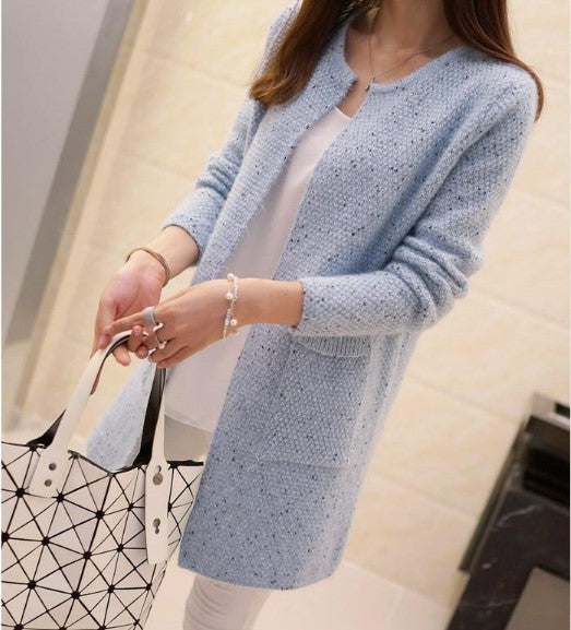 Winter Women's Casual Long Sleeve Knitted Cardigan - Zorket