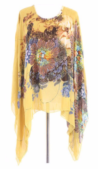 Women's Casual Loose Chiffon Blouse With Floral Print