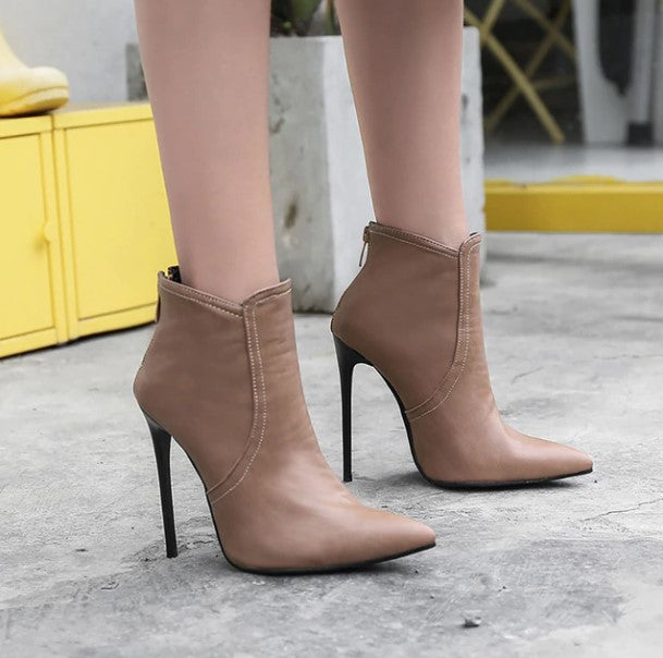 Women's Winter Classic Super High-Heeled Ankle Boots