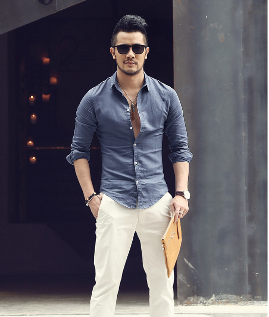 Men's Summer Slim Casual Shirt