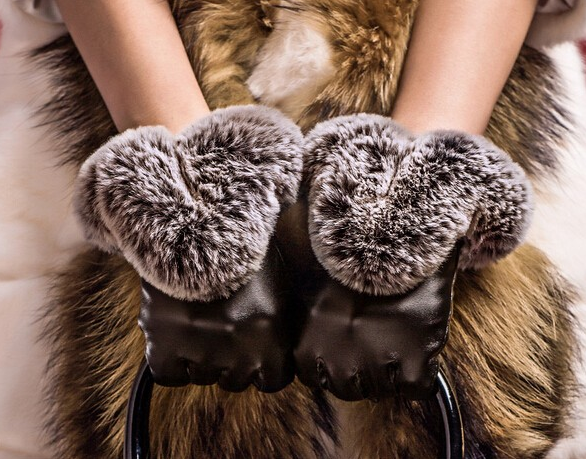 PU Leather Winter Gloves For Women - Zorket