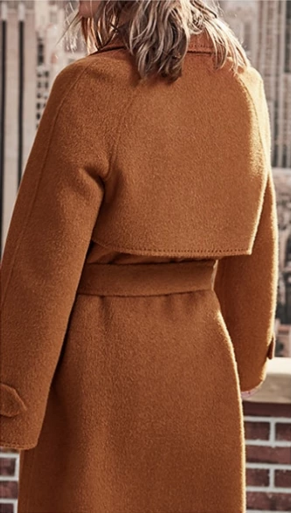Women's Winter Belted Woolen Coat With Pockets