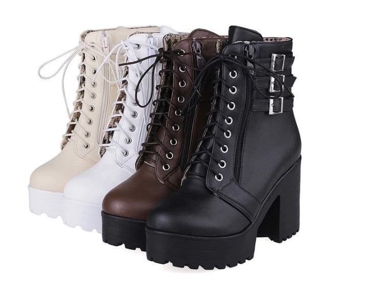 Women's Spring/Autumn High-Heeled Boots