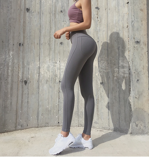 Women's Nylon High Waist Push Up Fitness Leggings