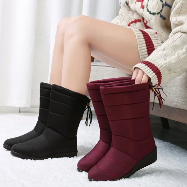 Women's Waterproof Warm Fur Snow Boots