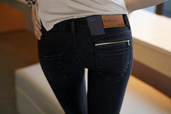 Skinny Low Waist Slim Pencil  Ladies Denim Jeans - Zorket