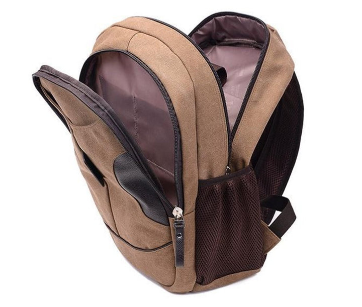 Women's Vintage Medium Canvas Backpack - Zorket