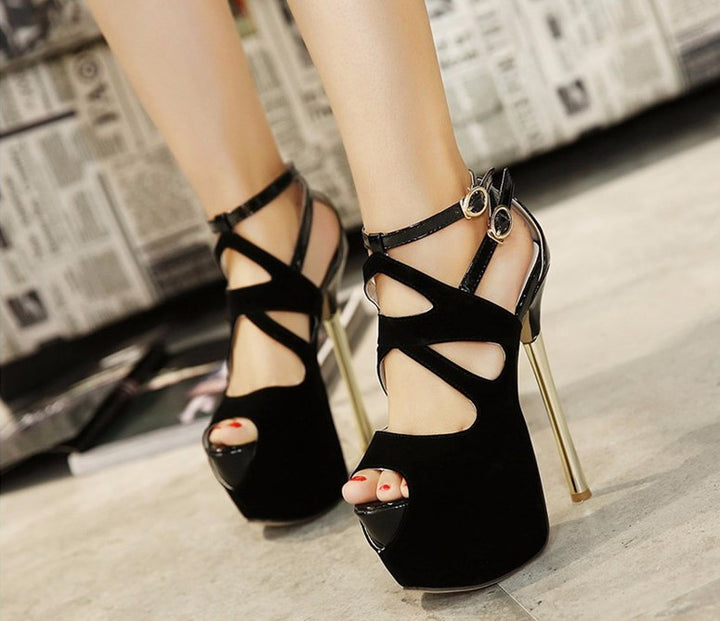 Summer Cut-Outs Ankle Strap Sandals For Women - Zorket