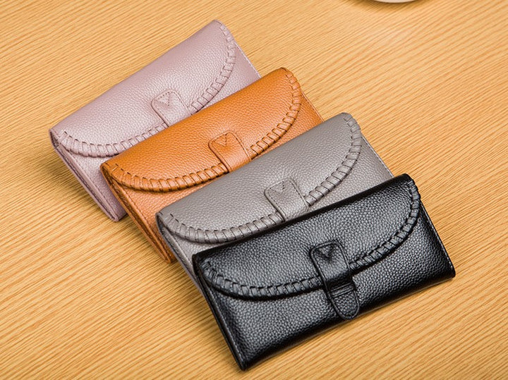 Female Genuine Leather Card Holder Phone Case Wallet - Zorket
