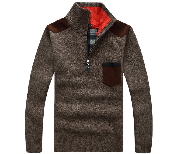 Men's Autumn / Winter Casual Stand Collar Thick Sweater - Zorket