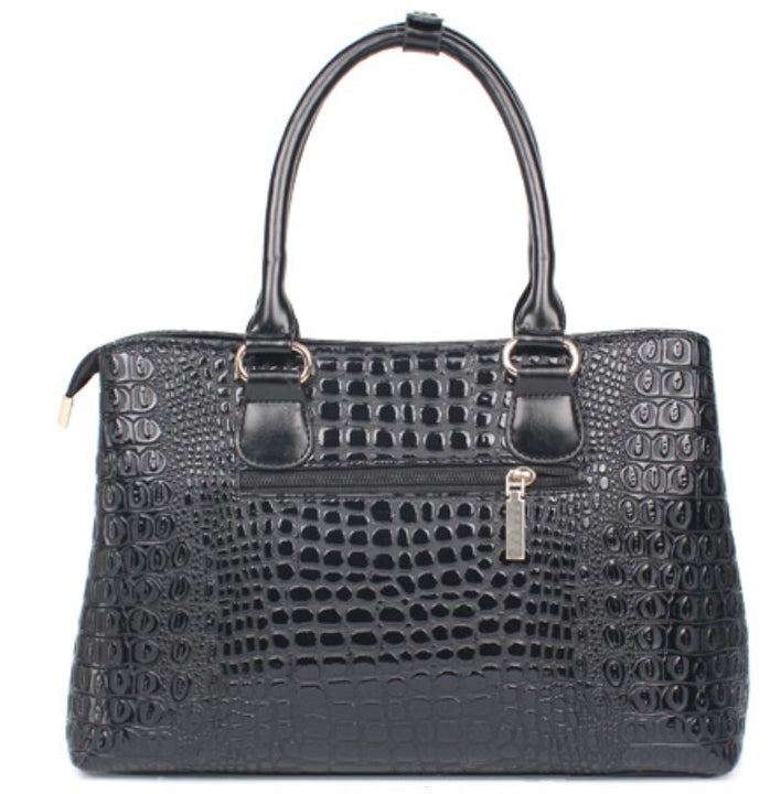 Women's Autumn Crocodile Leather Tote Handbag