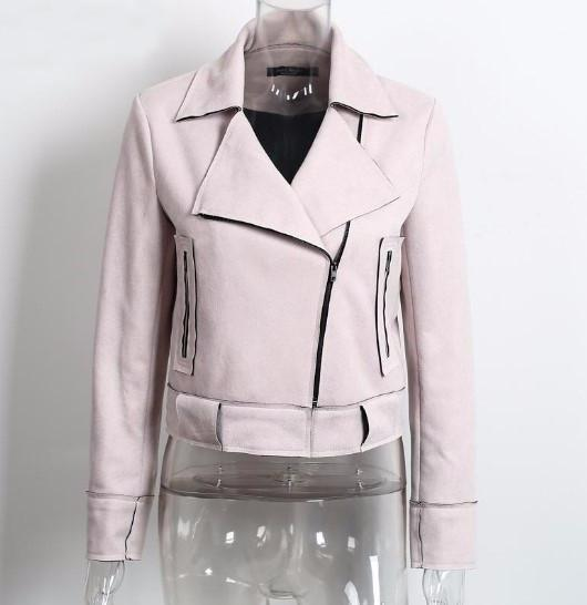 Women's Faux Leather Stylish Casual Jacket