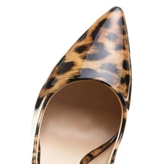 Women's Spring/Summer High-Heeled PU Pumps With Leopard Pattern
