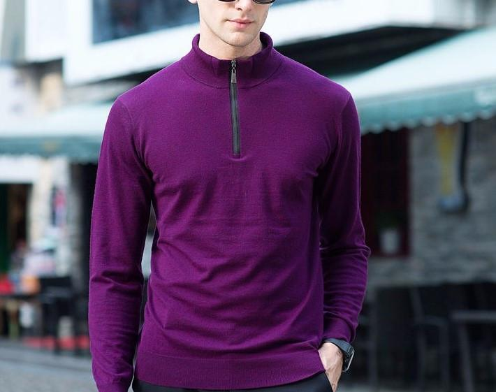High Quality Knitwear Men's Winter Thick Warm Cashmere Pullover
