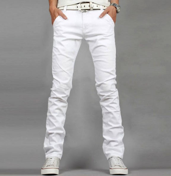 Slim Fit Men's High Quality White Jeans - Zorket