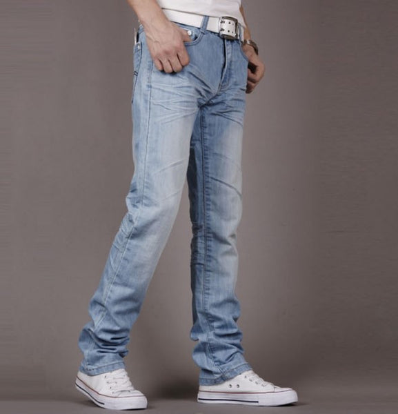 Jeans – Slim Fit Men's High Quality Light Blue Jeans | Zorket