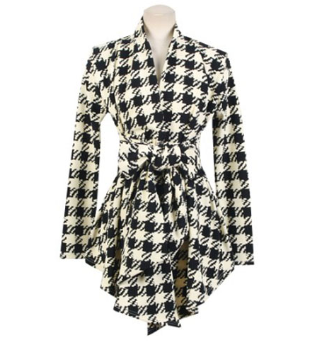 Female Fashionable Plaid Cardigan