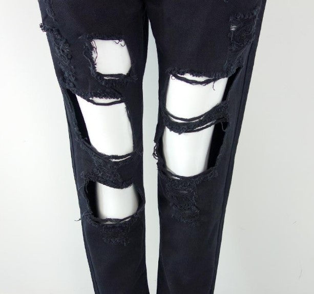 Women's Ripped Fashion Denim Jeans - Zorket