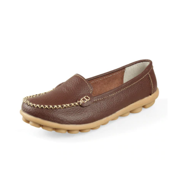 Women's Plus Size Leather Moccasins