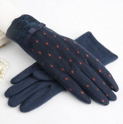 Winter Touch Screen Wool Women's Warm Gloves