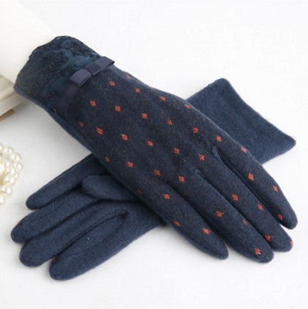Winter Touch Screen Wool Women's Warm Gloves - Zorket