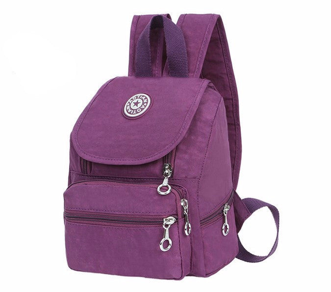Women's Nylon Mini Backpack - Zorket