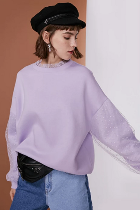Women's Loose Round Neck Sweatshirt