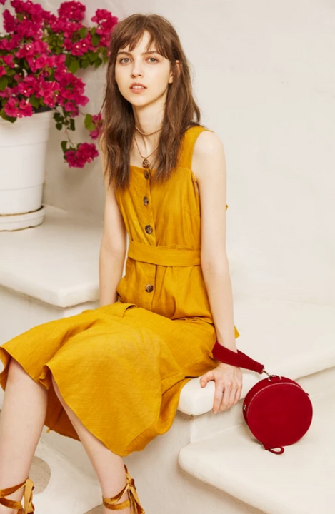 Women's Spring/Summer Sleeveless A-Line Dress