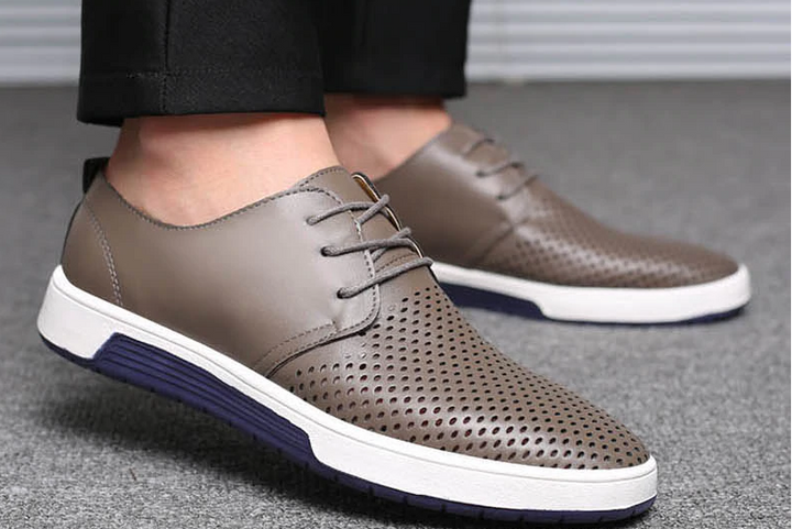 Men's Spring/Summer Leather Breathable Flats