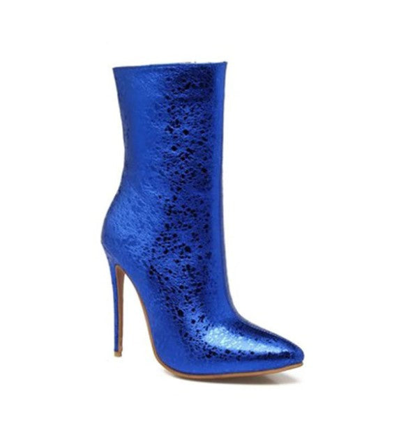 Women's Winter Super High PU Ankle Boots With Velvet Lining