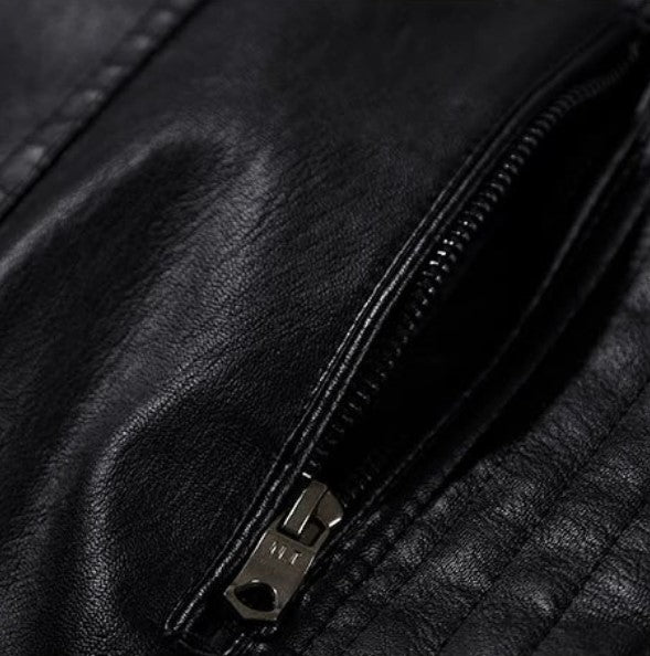 Men's Autumn/Winter Warm PU Leather Motorcycle Jacket