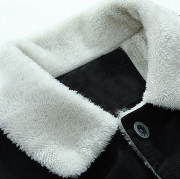 Men's Winter Casual Warm Cotton Jacket With Velvet Lining