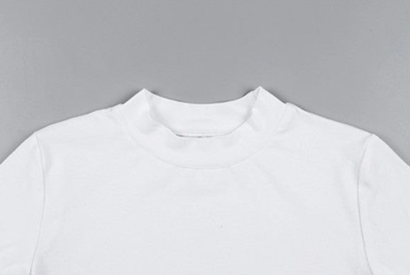 Women's Autumn Long-Sleeved O-Neck Cropped T-Shirt