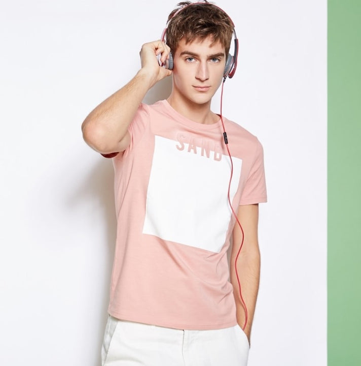 Men's Summer Casual Cotton Short-Sleeved T-Shirt With Embroidery