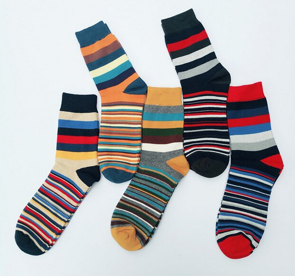 Men's Spring/Summer Cotton Colorful Socks